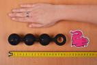 Anální kuličky Black Trio – měříme délku