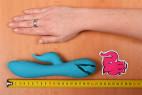 Silikónový vibrátor Tiffany Dream - meriame dĺžku vibrátoru