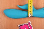 Silikónový vibrátor Tiffany Dream - meriame šírku vibrátora vrátane výbežku