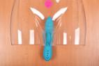 Silikónový vibrátor Tiffany Dream - ukážka zavedeného vibrátora