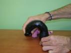 Vibrátor gélový čierny, veľkosť 20 cm