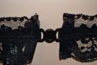 Podvazkový pás s mašličkou černý S-L