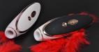 Satisfyer Luxury tlakový vibrátor, růžová a černá varianta