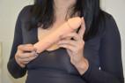 Silikonový vibrátor Natural Dick, Karin