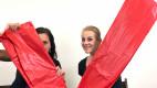 Rudé PVC prostěradlo Dirty Mind (203 x 226 cm), Domča a Verča