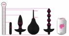 Análna sada Vibro Partners, rozmery v porovnaní s plechovkou