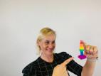 Análny kolík s prísavkou Rainbow Euphoria, Verča