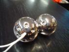 Venušiny kuličky tvrdé stříbrné
