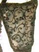 Kalhotky tanga černé srdíčko