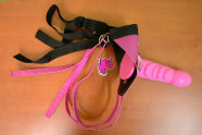 Strap-on Pink Silicone s postrojom