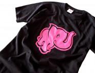 Tričko pánske Ružový slon