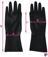 Latexové rukavice - rozmery