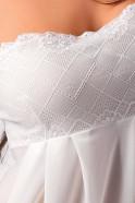 Košilka Nicolette – detail bílého vzoru na prsou