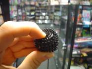 """Kuličky měkké \""""ježek\"""" černé"""
