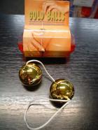 Guličky plast tvrdé zlaté
