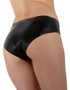 LateX nohavičky s dildom Glossy, zozadu