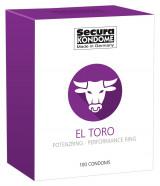 Secura El Toro - Kondómy s erekčným krúžkom (100 ks)