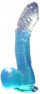 Dildo gelové přísavka modré 17*3 cm