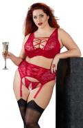 Plus size červený komplet Red Jane