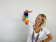 Dildo s přísavkou Rainbow Lust (20 cm), Verča