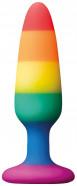 Anální kolík s přísavkou Rainbow Euphoria, malý