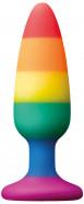 Anální kolík s přísavkou Rainbow Euphoria, velký