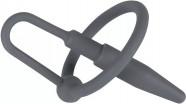 Silikonový Sperma Stopper s kroužkem Black Ring (8 mm)