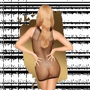 Síťované šaty Bad Girl