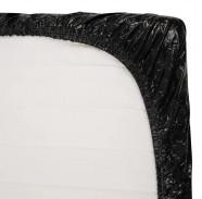 Čierne vinylové prestieradlo Secret Desire (160 × 200 cm)