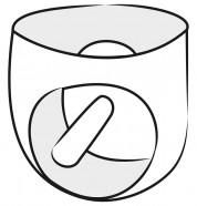 LateX slipy s análnym dildom Leon (14 cm)