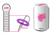 Sperma Stopper se silikonovým kroužkem Glans Ring (8 mm), plechovka