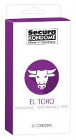 Secura El Toro – kondomy s erekčním kroužkem (12 ks)