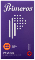 Primeros Passion – vroubkované kondomy (12 ks)