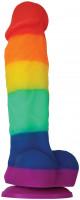 Dildo s přísavkou Rainbow Pride (17 cm)