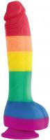 Dildo s přísavkou Rainbow Lust (20 cm)