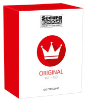 Secura Red – ochucené kondomy (100 ks)