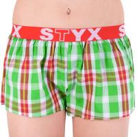 Dámské trenky Styx, sportovní guma, zelenočervené