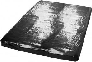 Čierne vinylové prestieradlo Secret Desire (160 x 200 cm)